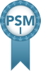 badge PSM I PRIOM SCRUM
